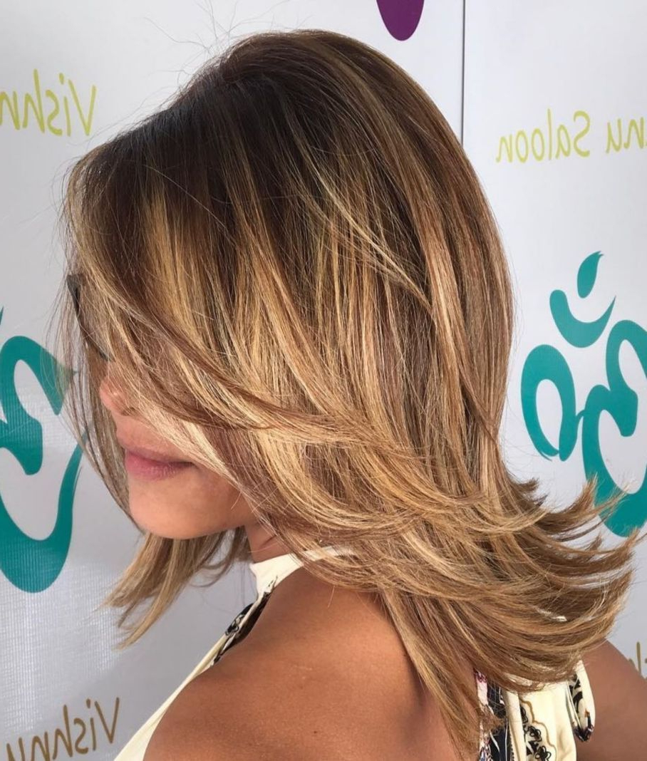 Well Known Light Layers Hairstyles Enhanced By Color Throughout 70 Brightest Medium Layered Haircuts To Light You Up In 2019 (Gallery 6 of 20)
