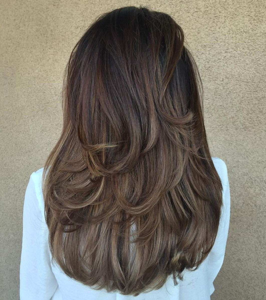 Well Known Mid Back Brown U Shaped Haircuts With Swoopy Layers Inside 80 Cute Layered Hairstyles And Cuts For Long Hair In 2019 (Gallery 1 of 20)