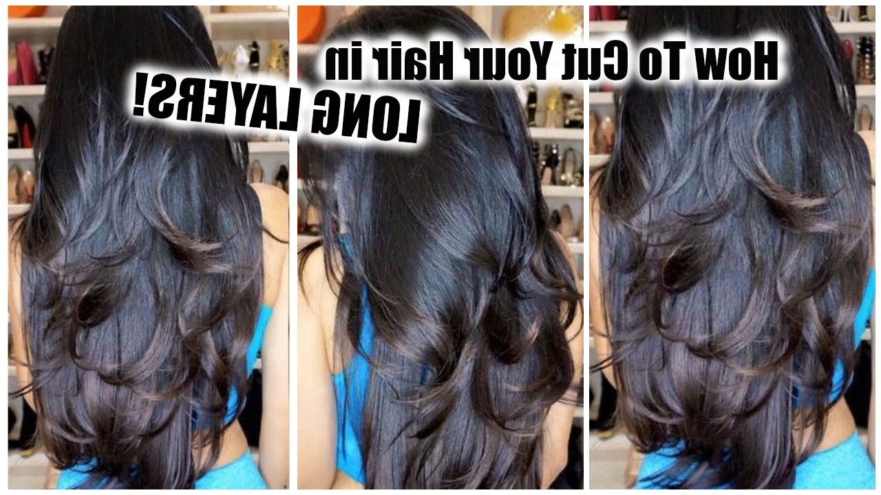 Well Known Reddish Brown Hairstyles With Long V Cut Layers Throughout How To Cut Your Own Hair In Layers At Home │ Diy Layers For Long (View 15 of 20)