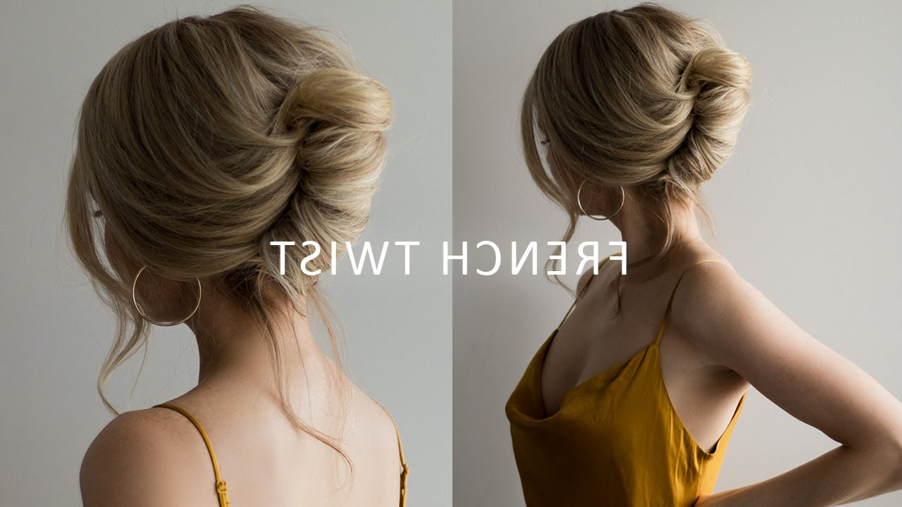 Well Known Twisted Side Roll Prom Updos With How To: French Roll Updo Hairstyle ✨ Perfect For Prom, Weddings (View 19 of 20)