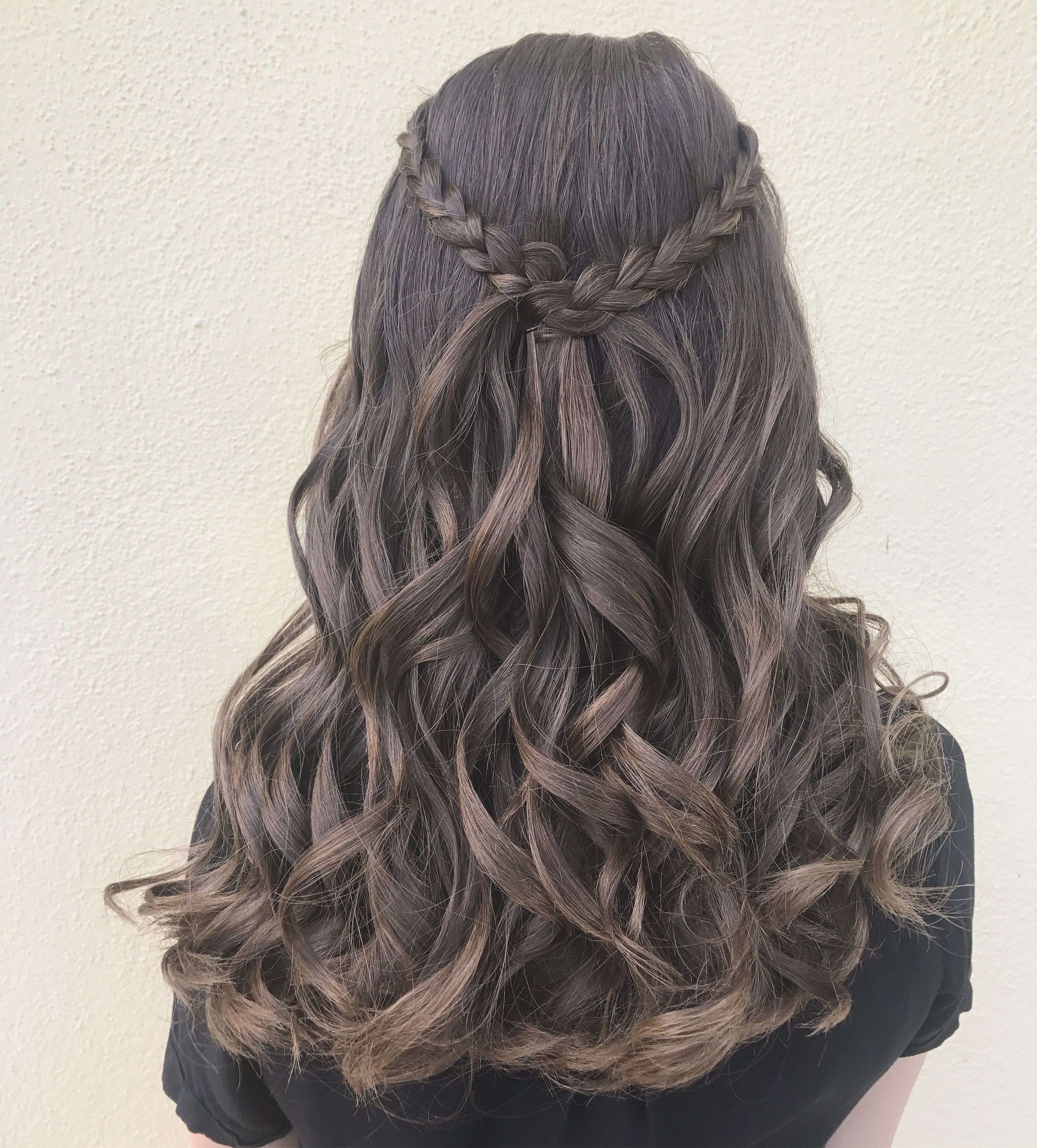 Well Liked Cascading Waves Prom Hairstyles For Long Hair Throughout Braided Bohemian Hairstyle Updo Long Hair Prom Hair Beach Waves (View 7 of 20)