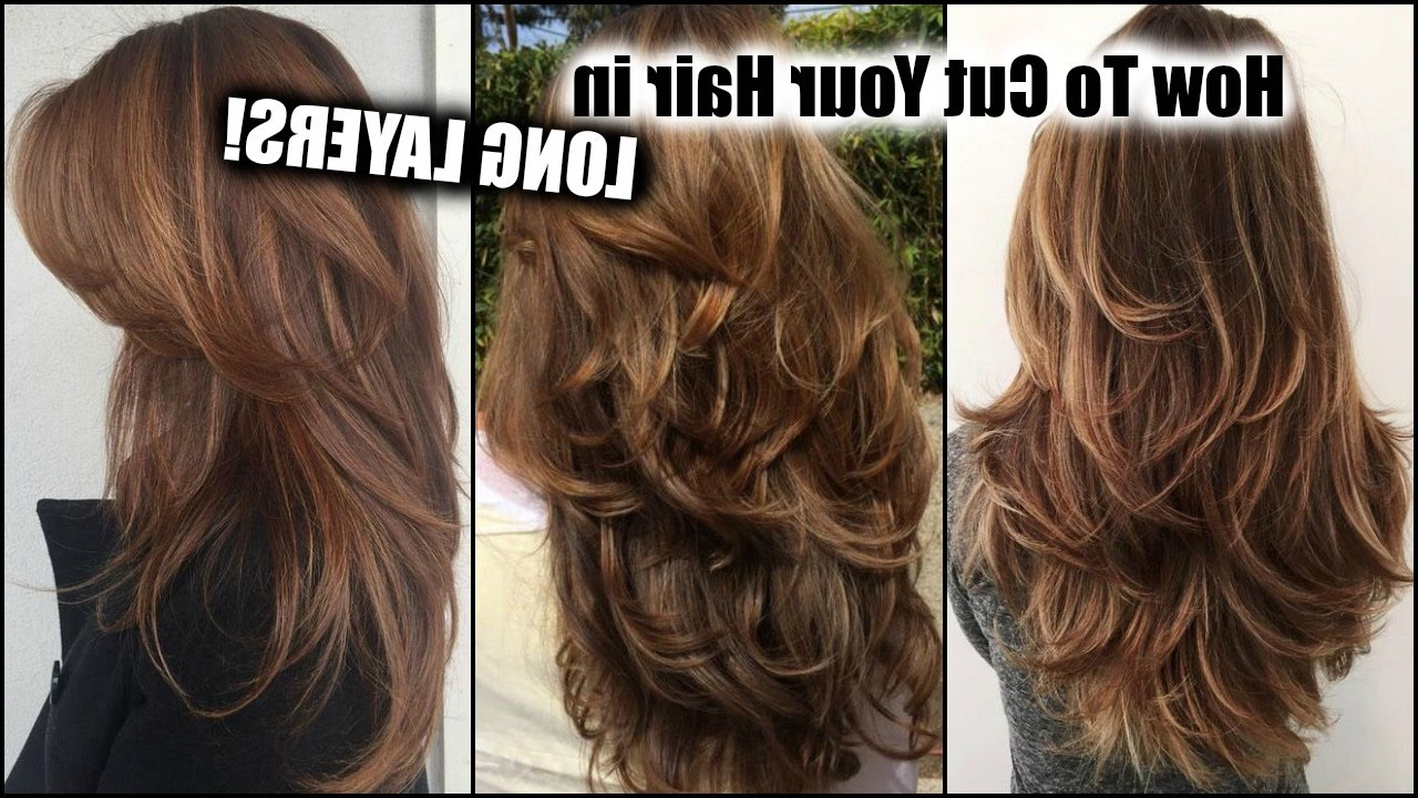 Well Liked Reddish Brown Hairstyles With Long V Cut Layers Regarding How I Cut My Hair At Home In Long Layers! │ Long Layered Haircut (View 10 of 20)