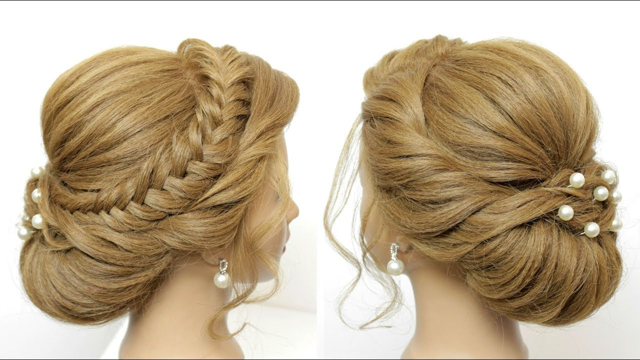 Well Liked Romantic Prom Updos With Braids Within Wedding Prom Updo Tutorial (View 20 of 20)