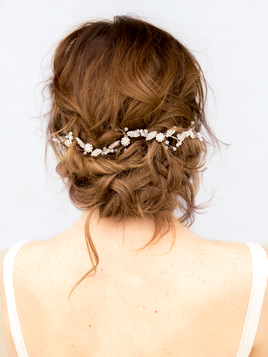 Well Liked Side Bun Prom Hairstyles With Orchids Intended For Top 10 Tips For Choosing Your Bridal Hair Accessories – Hair Comes (View 18 of 20)