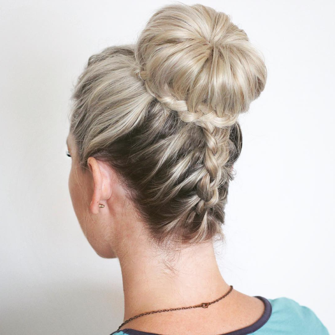 Well Liked Side Bun Twined Prom Hairstyles With A Braid In 14 Prom Hairstyles For Long Hair That Are Simply Adorable (View 16 of 20)