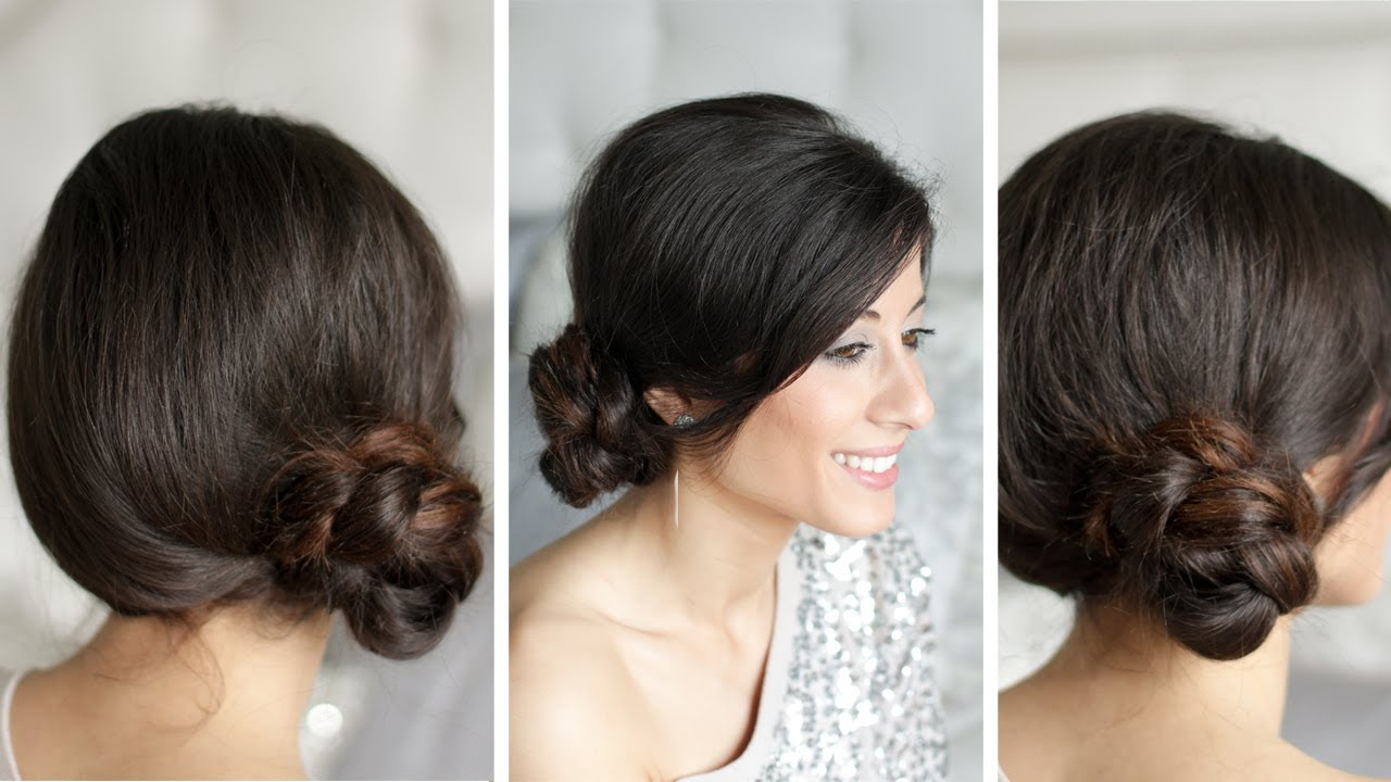 Well Liked Spirals Side Bun Prom Hairstyles Inside Braided Side Bun – Youtube (Gallery 4 of 20)