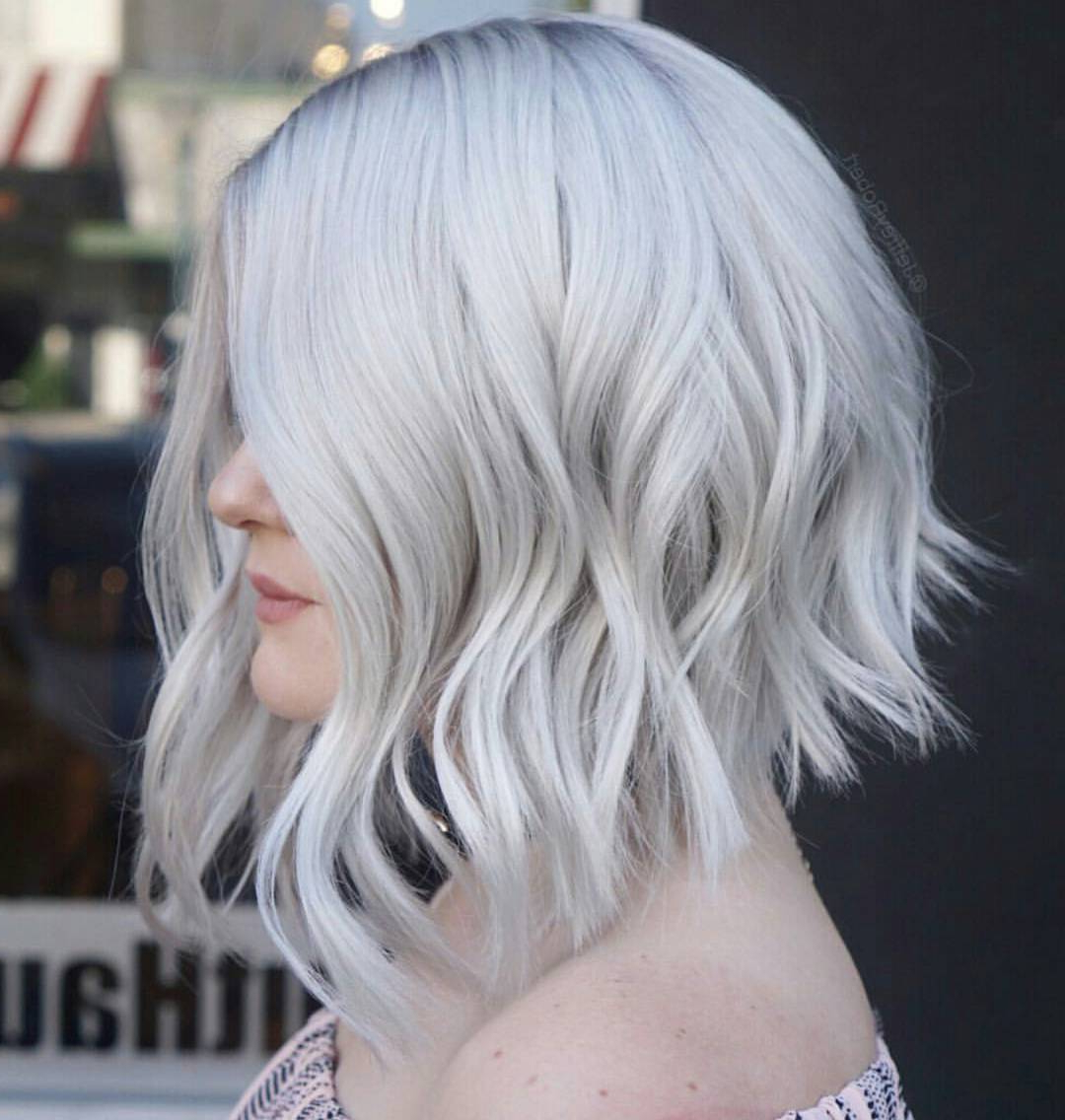 Well Liked White Blonde Flicked Long Hairstyles With Regard To 10 Wavy Lob Hair Styles – Color & Styling Trends Right Now! (View 20 of 20)