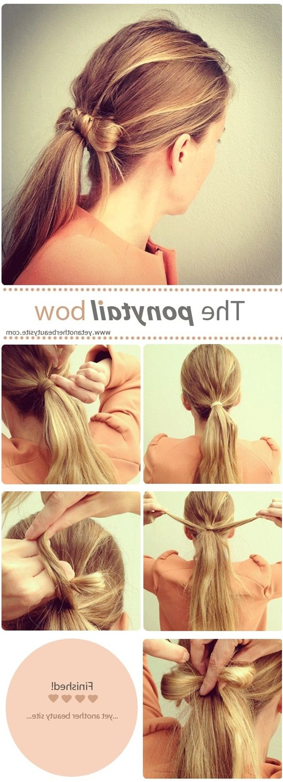 15 Cute & Easy Ponytails – Sure Champ Throughout Popular Triple Weaving Ponytail Hairstyles With A Bow (Gallery 11 of 20)