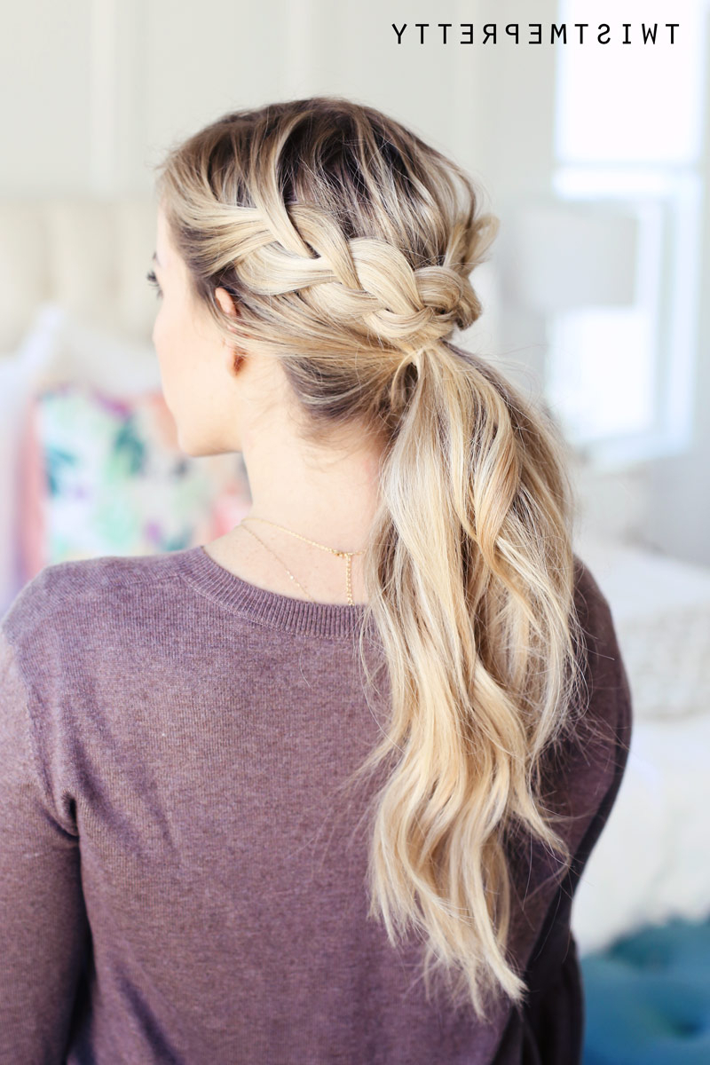 15 Easy Ponytail Hairstyles To Spice Up Your Style 2019 – Bows And Bands With Regard To Most Popular Pearl Crown Ponytail Hairstyles (View 16 of 20)