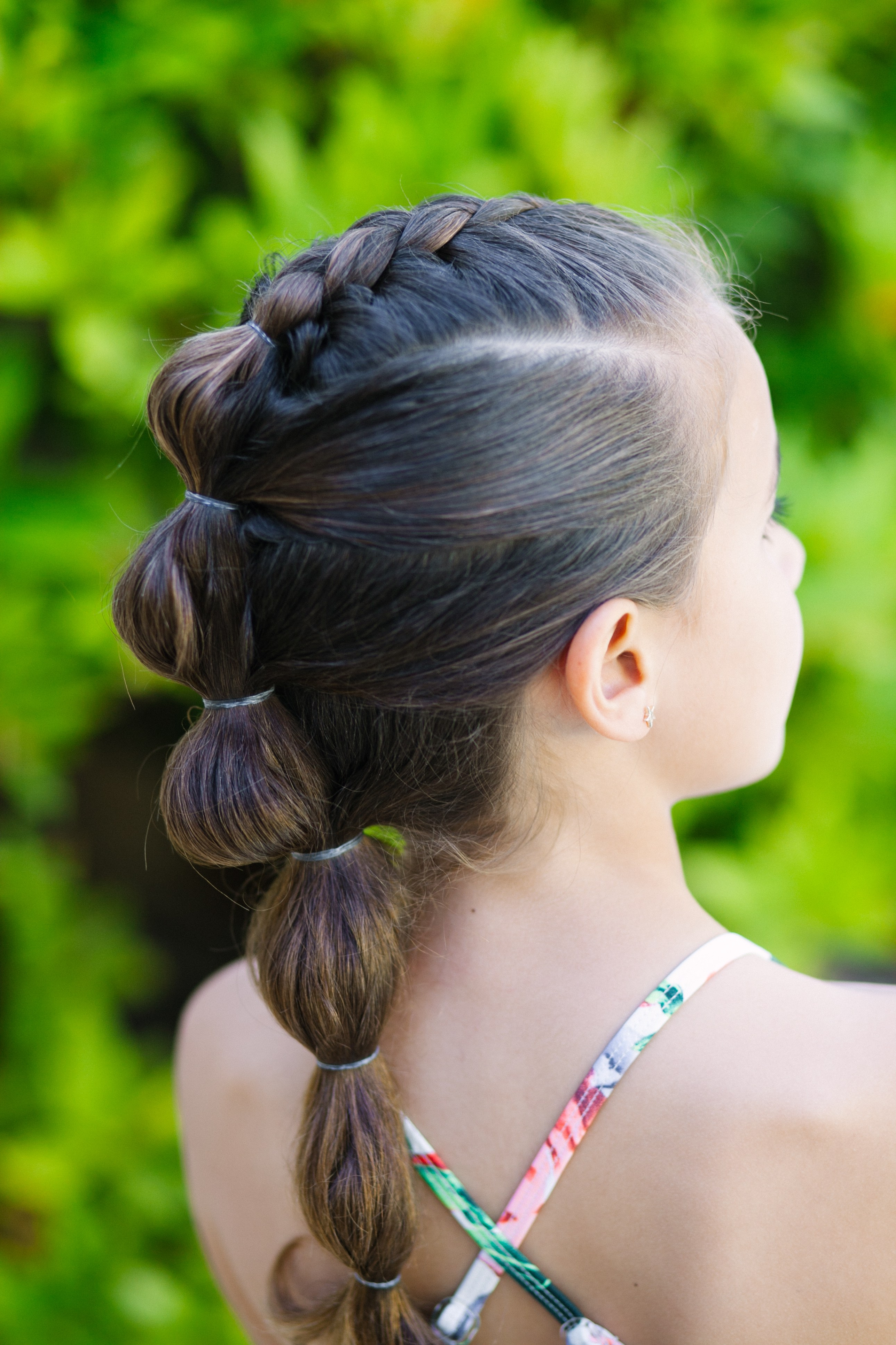 15 Little Girl Hairstyles For School – Million Ways To Mother For Well Liked Braided Bubble Ponytail Hairstyles (Gallery 12 of 20)