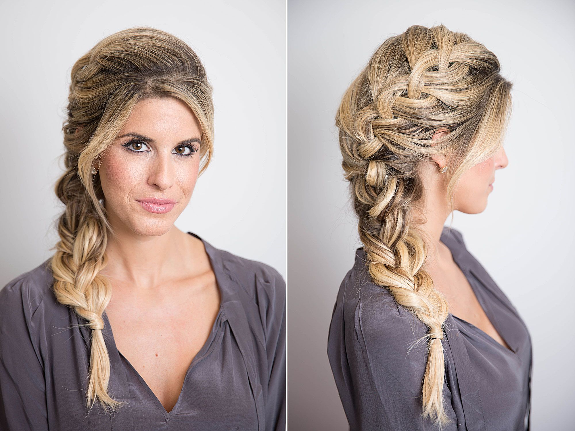 17 Braided Hairstyles With Gifs – How To Do Every Type Of Braid With Well Known Messy Fishtail Hairstyles For Oblong Faces (View 4 of 20)