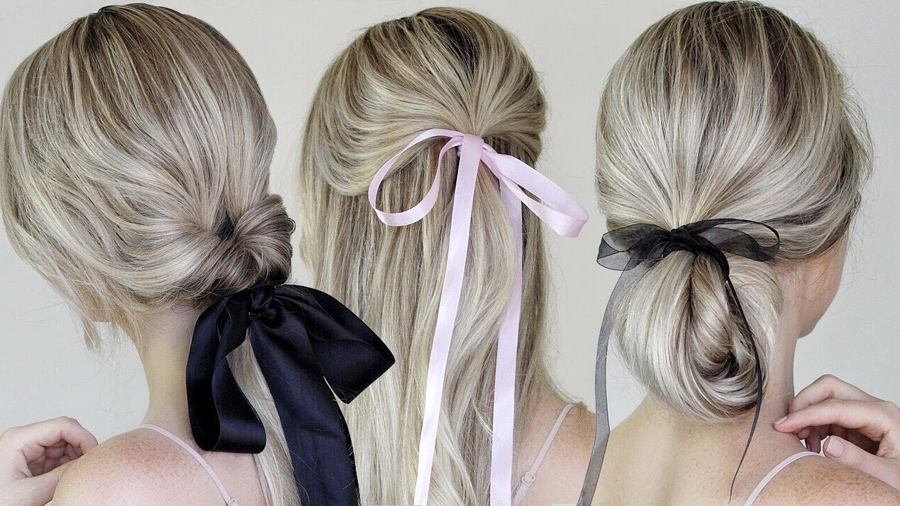 2018 Black Bow Ponytail Hairstyles Pertaining To Simple & Easy Hairstyles Incorporating Bows & Ribbon (Gallery 7 of 20)