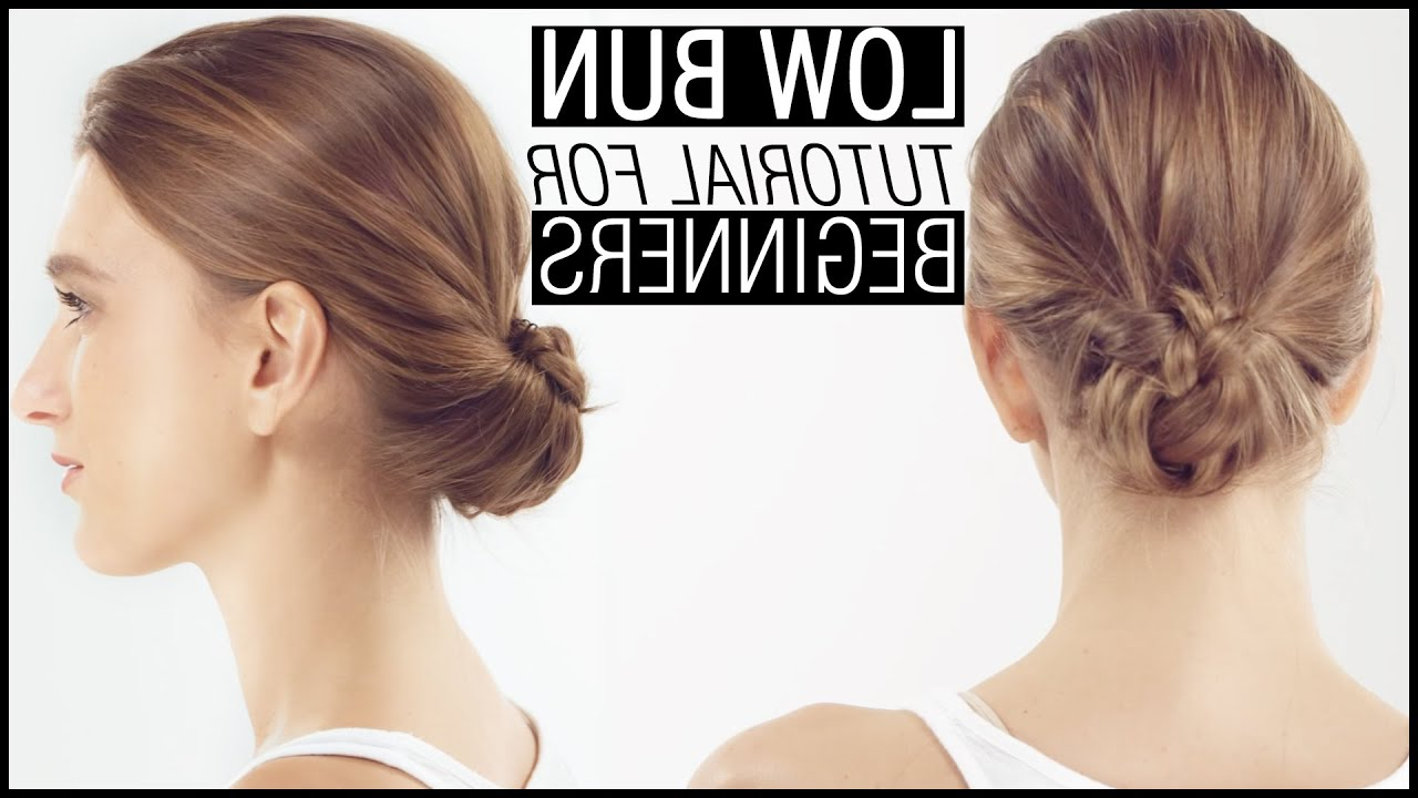 2018 Ponytail Hairstyles With A Strict Clasp Throughout How To Do The Perfect Low Bun – A Step By Step Tutorial (View 13 of 20)