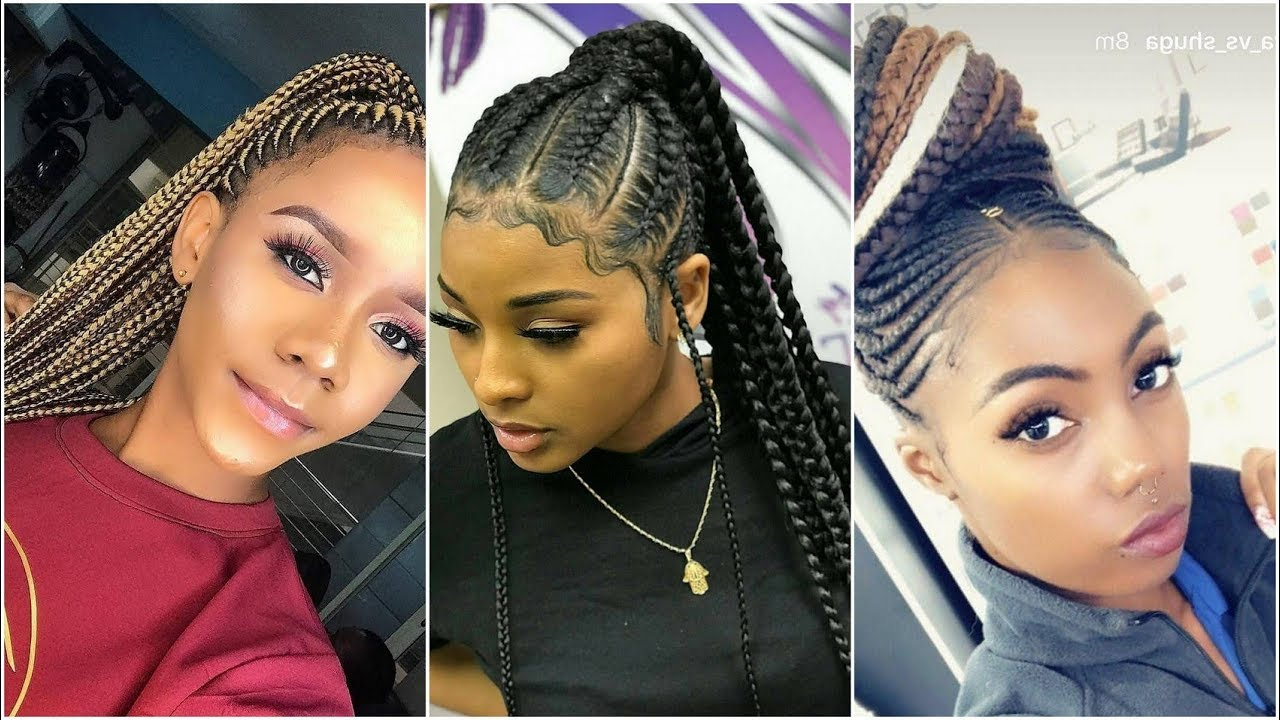 2019 Cornrow Braid Styles For Classic Ladies Pertaining To Recent Cornrow Braids Hairstyles (View 2 of 20)