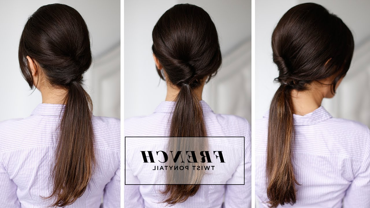 2019 Twist Into Ponytail Hairstyles Pertaining To French Twist Ponytail (View 10 of 20)