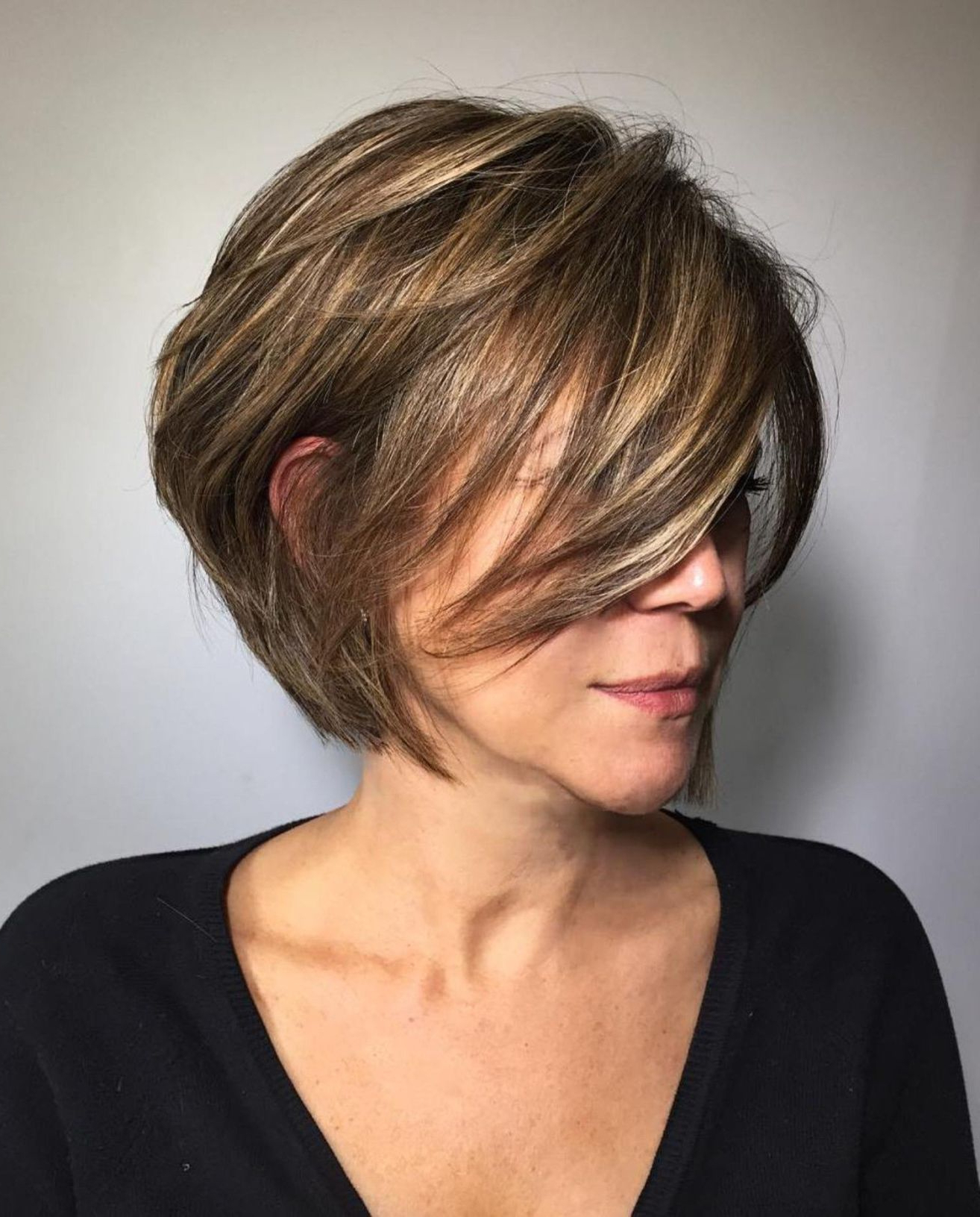 2020 Choppy Side Parted Bob Hairstyles Intended For Fashion : Intriguing Choppy Side Parted Pixie Bob Hairstyles Photo (View 3 of 20)