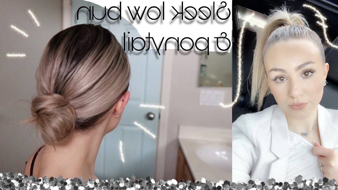 2020 Classy Low Bun Hairstyles For Big Foreheads With Classy Low Bun & Sleek High Ponytail Tutorial (View 7 of 20)