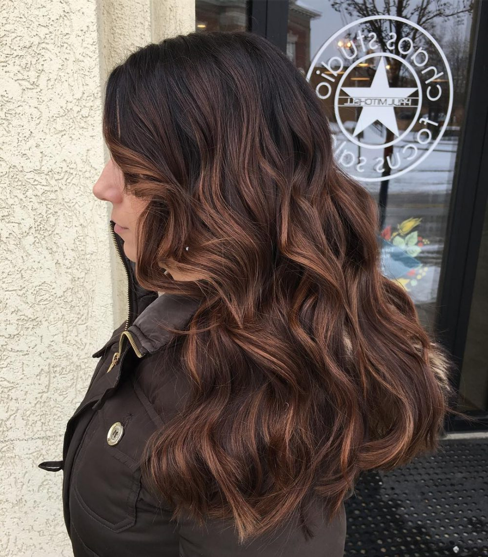 24 Long Wavy Hair Ideas That Are Freaking Hot In 2019 Regarding Most Current Long Wavy Hairstyles With Horizontal Bangs (View 1 of 20)