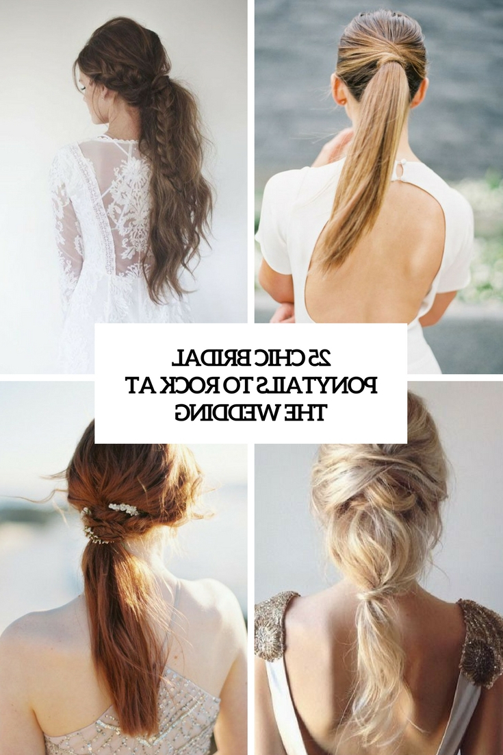 25 Chic Bridal Ponytails To Rock At The Wedding – Weddingomania With Widely Used Pearl Crown Ponytail Hairstyles (Gallery 5 of 20)