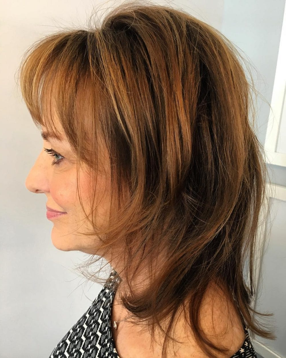 26 Modern Shag Haircuts To Try In 2019 Regarding Latest Medium Shag Hairstyles With Long Side Bangs (View 14 of 20)