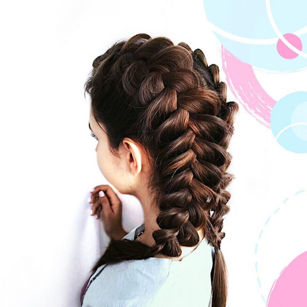 37 Cute French Braid Hairstyles For 2019 In Well Known Double Plaiting Ponytail Hairstyles (View 14 of 20)