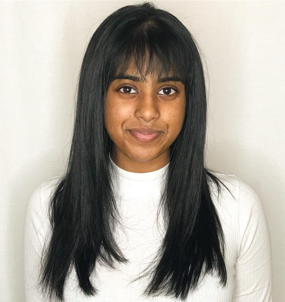 38 Flattering Examples Of Long Hair With Bangs Pertaining To Newest Voluminous Layers Under Bangs Hairstyles (Gallery 20 of 20)