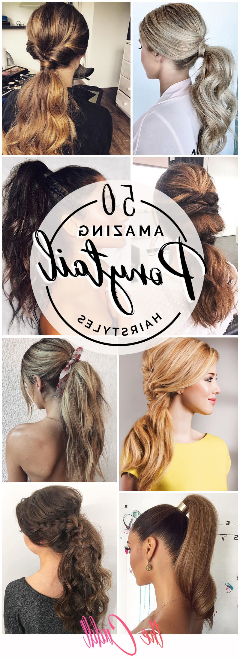 50 Best Ponytail Hairstyles To Update Your Updo In 2019 Throughout Most Current Pearl Crown Ponytail Hairstyles (Gallery 8 of 20)
