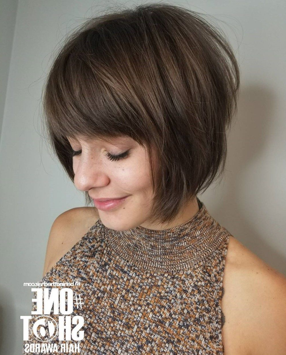 50 Classy Short Bob Haircuts And Hairstyles With Bangs In 2019 Pertaining To Current Bob Hairstyles With Full Fringe (Gallery 4 of 20)