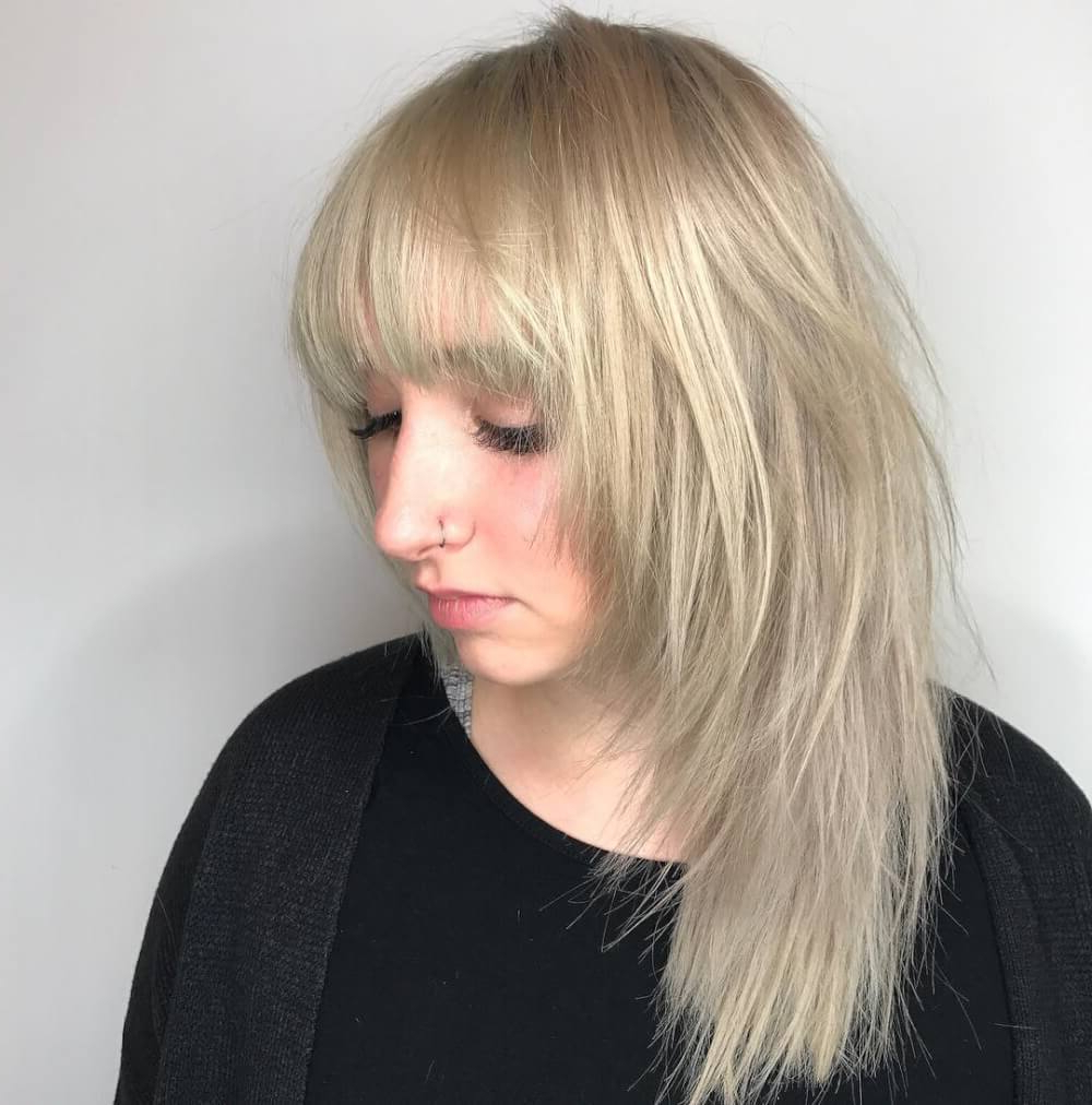 51 Stunning Medium Length Layered Haircuts & Hairstyles For 2019 Pertaining To Recent Voluminous Layers Under Bangs Hairstyles (Gallery 16 of 20)