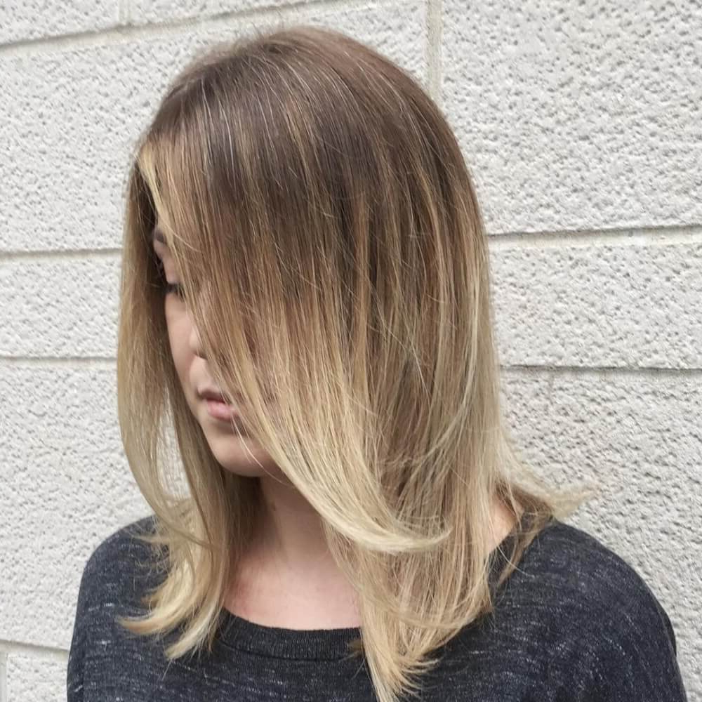 51 Stunning Medium Length Layered Haircuts & Hairstyles For 2019 Within Most Recently Released Voluminous Layers Under Bangs Hairstyles (View 7 of 20)