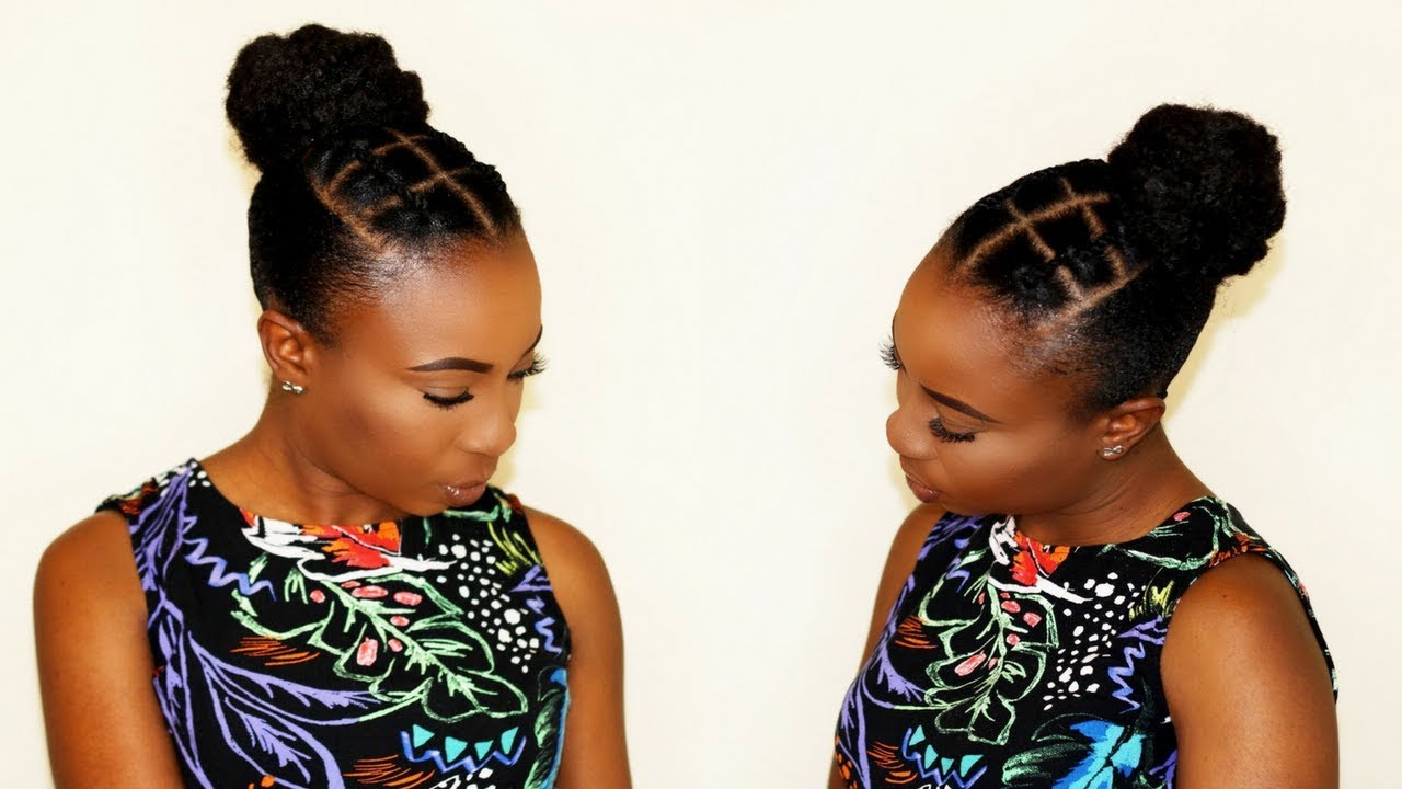 African Threading Tribal Sleek Bun On Short Natural Hair With Famous Threaded Ponytail Hairstyles (View 9 of 20)
