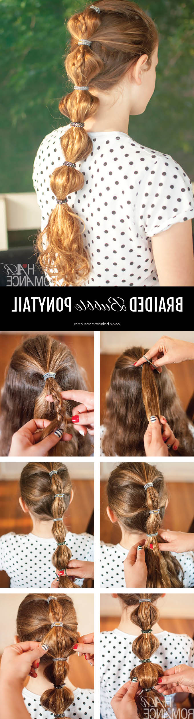 Back To School Hairstyles – The Braided Bubble Ponytail Tutorial Pertaining To Best And Newest Braided Bubble Ponytail Hairstyles (View 6 of 20)