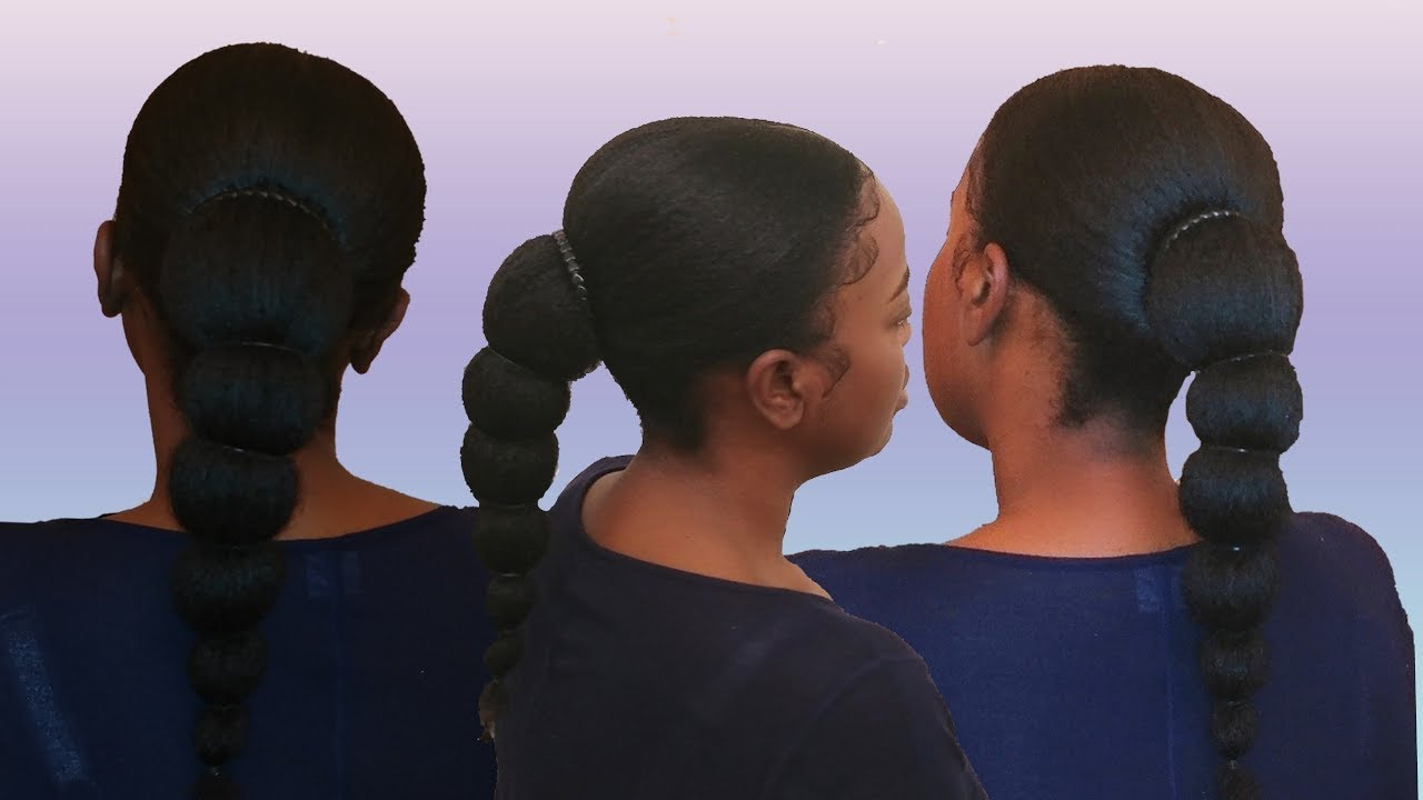 Banded Ponytail On Natural Hair (View 8 of 20)