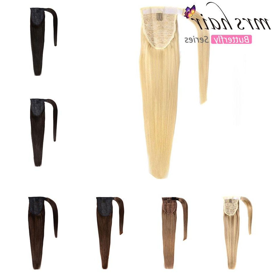 """Best And Newest Graded Ponytail Hairstyles With A Butterfly Clasp Intended For 2019 Human Hair Clip In Black / Blonde Machine Made Remy Hairpieces Straight Clip In Hair Extensions 14"""" 14Inch 60Gram (View 3 of 20)"""