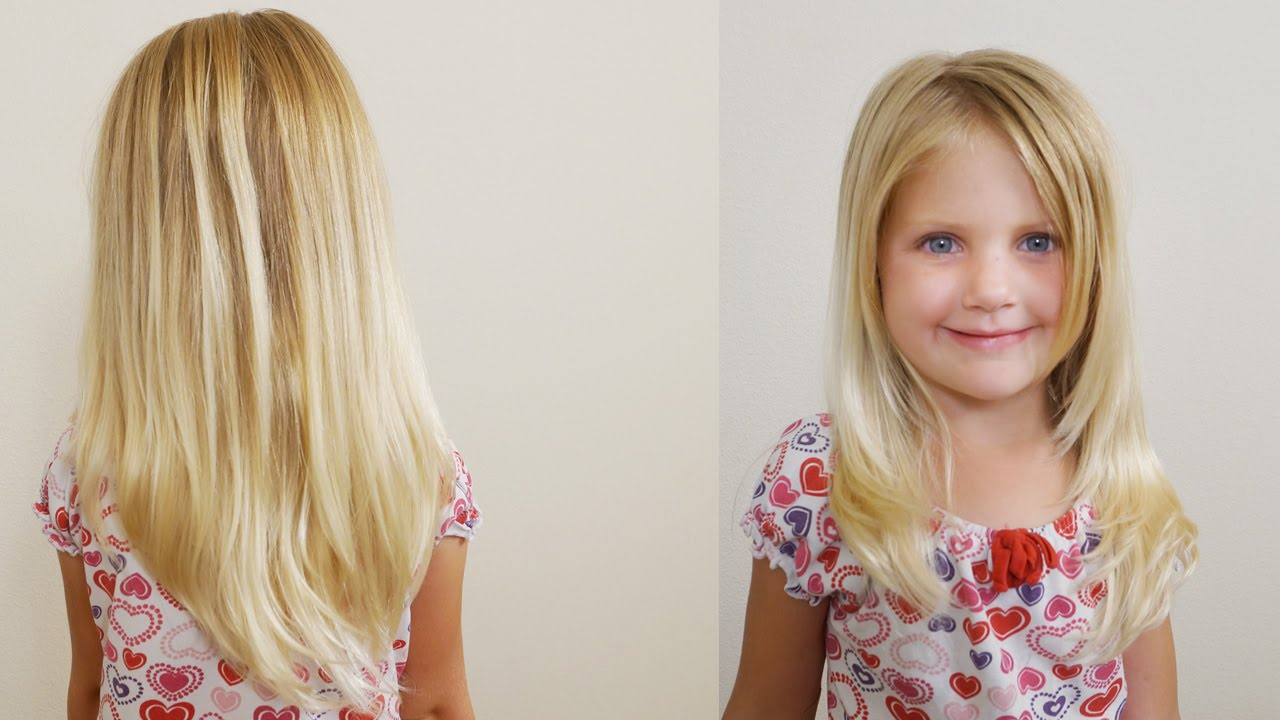 Best And Newest Medium Hairstyles With Sliced Layers Regarding How To Cut Girls Hair // Long Layered Haircut For Little Girls (View 4 of 20)