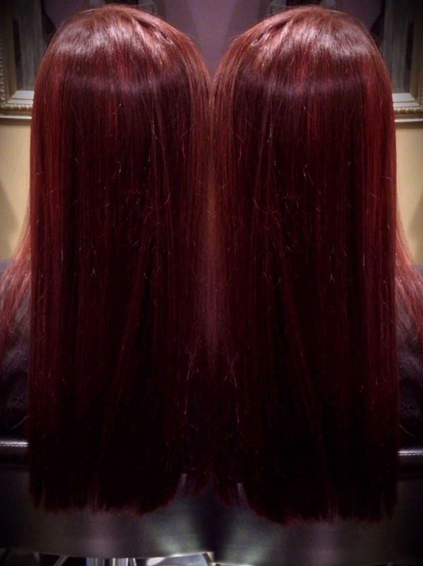 Best And Newest Radiant Red Bob Haircuts With Regard To Radiant Red Violet Hair Colorallnutrient 6Rb (View 5 of 20)