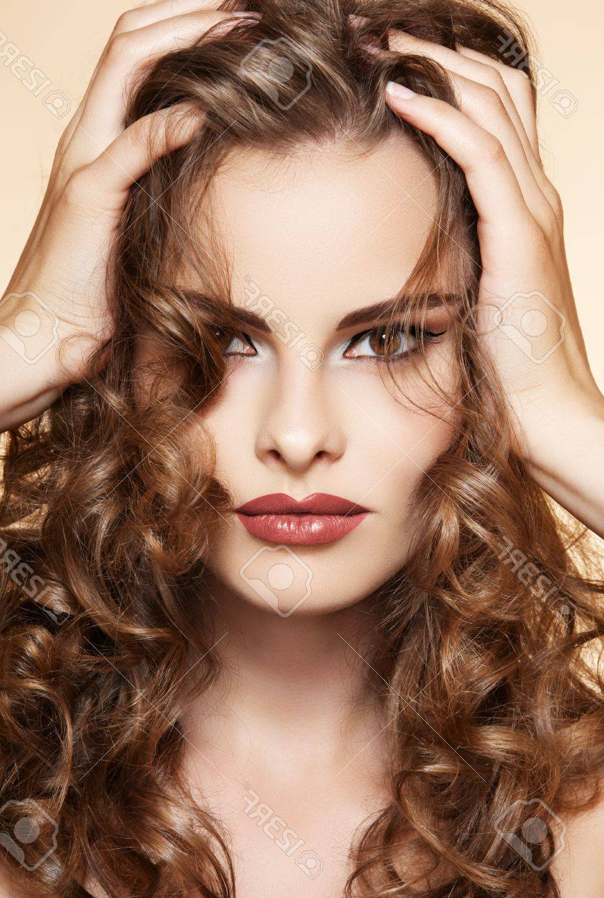 Best And Newest Shiny Tousled Curls Hairstyles Throughout Beautiful Woman With Volume And Shiny Curly Hair Style, Bright. (View 4 of 20)