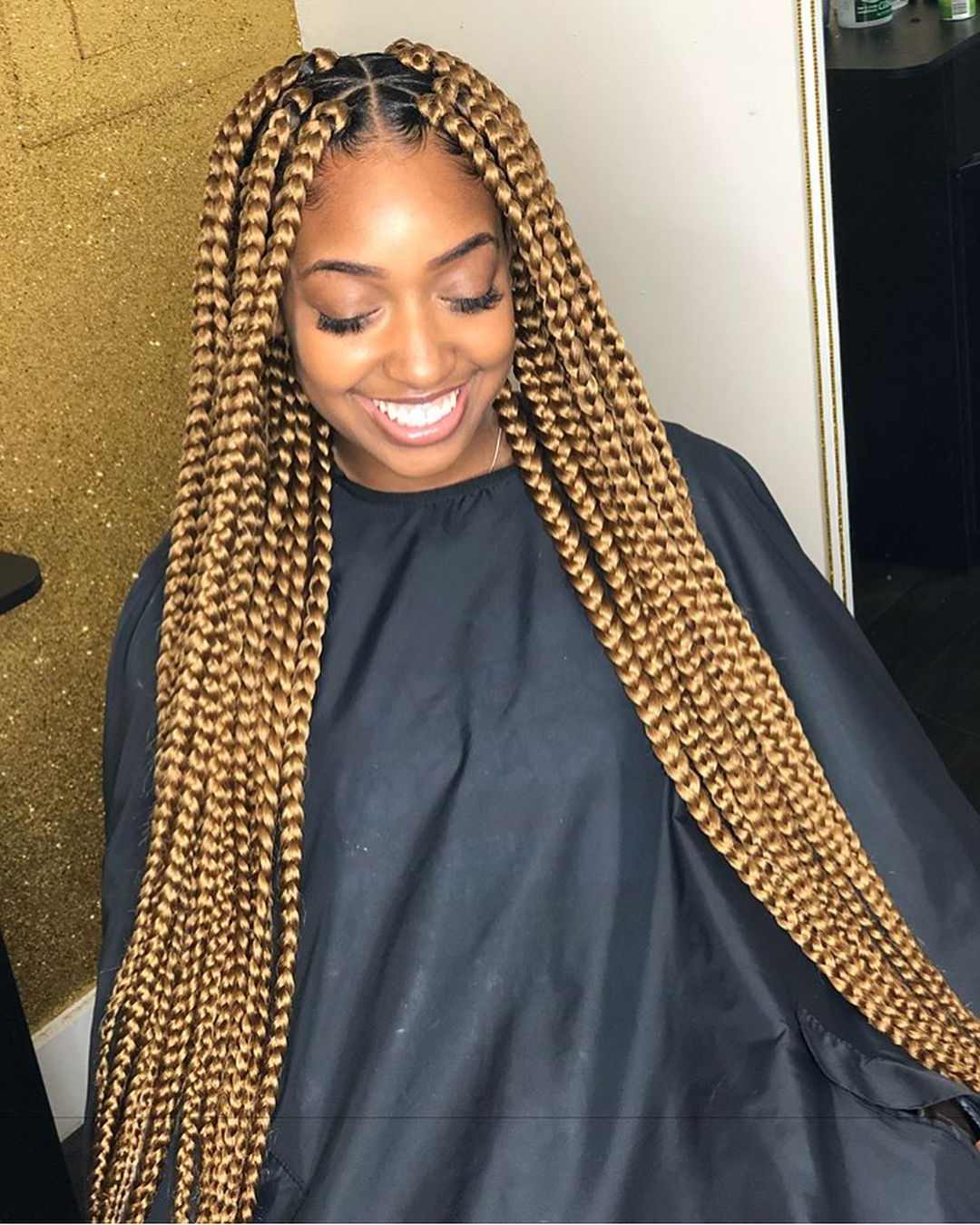 Blonde Braids, Large Box Braids, Blonde Regarding Best And Newest Braids And Gold Ponytail Hairstyles (View 5 of 20)