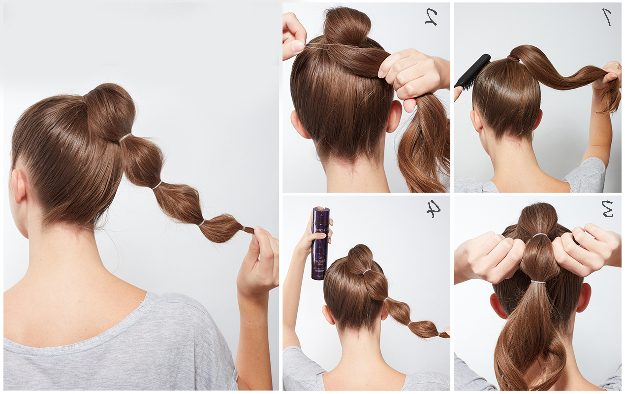 Blow Ltd Intended For Newest Braided Bubble Ponytail Hairstyles (View 6 of 20)