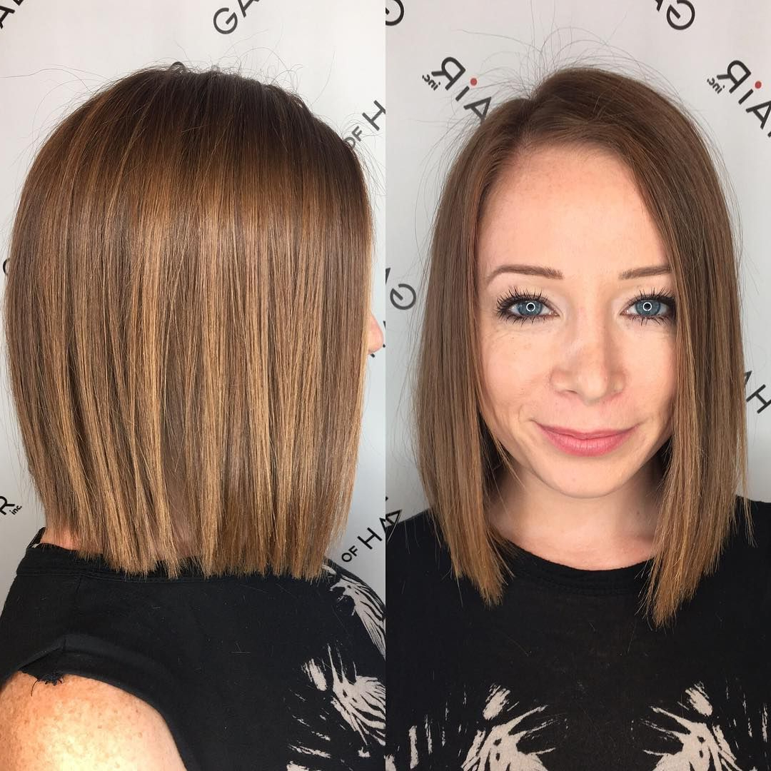 Blunt Bronze Shoulder Length Bob With Textured Ends And (View 9 of 20)