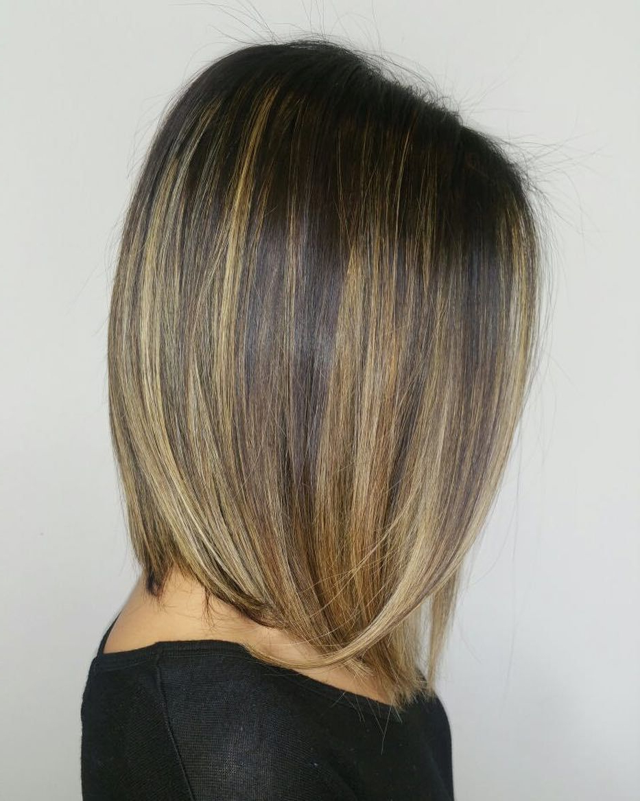 Brown Hair Balayage, Sleek With Most Recent Effortless Balayage Bob Hairstyles (View 8 of 20)