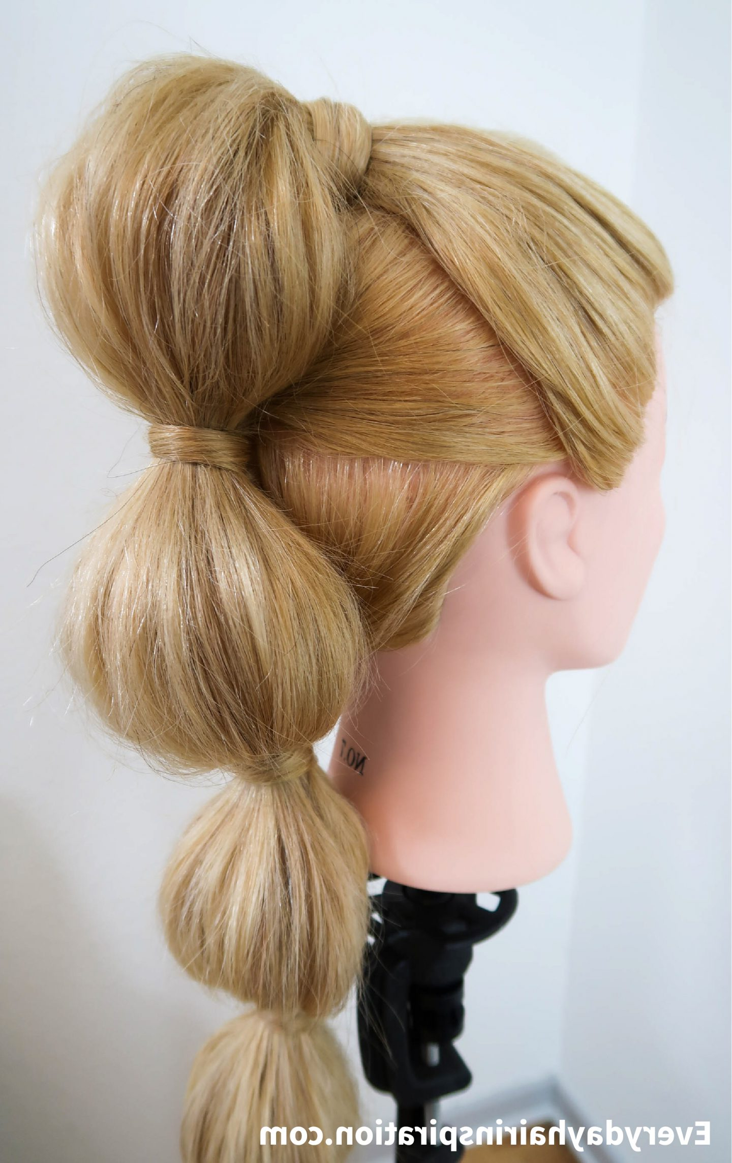 Bubble Ponytail Stepstep – Everyday Hair Inspiration Intended For Most Recent Braided Bubble Ponytail Hairstyles (View 8 of 20)