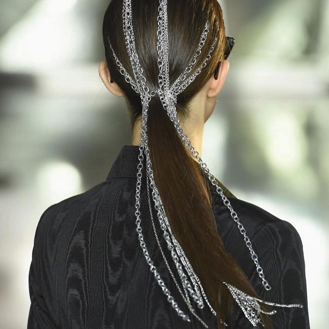 "Christian Siriano On Instagram: ""Chain Game Strong! Loved This Regarding Current Chain Ponytail Hairstyles (View 4 of 20)"