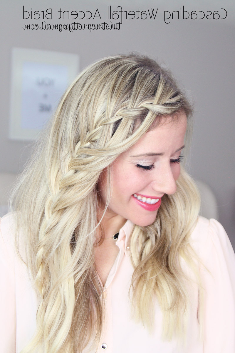 Current Blonde Accent Braid Hairstyles Pertaining To Waterfall Accent Braid Tutorial + Dealing With Baby Hairs – Twist Me (View 12 of 20)