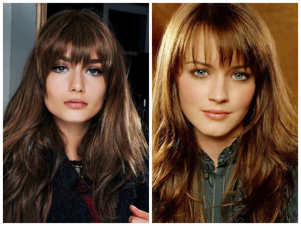 Different Long Fringes For Long Hair – Women Hairstyles In Best And Newest Long Hair And Blunt Bangs Hairstyles (Gallery 20 of 20)