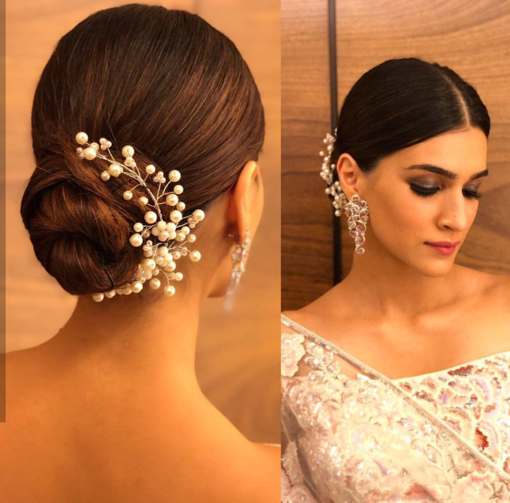 Easy Hairstyles For Sarees With Face Shape Guide Within 2020 Classy Low Bun Hairstyles For Big Foreheads (View 16 of 20)
