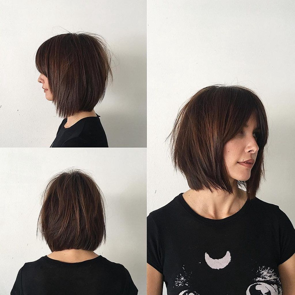 Featured Photo of Shaggy Bob Hairstyles With Curtain Bangs