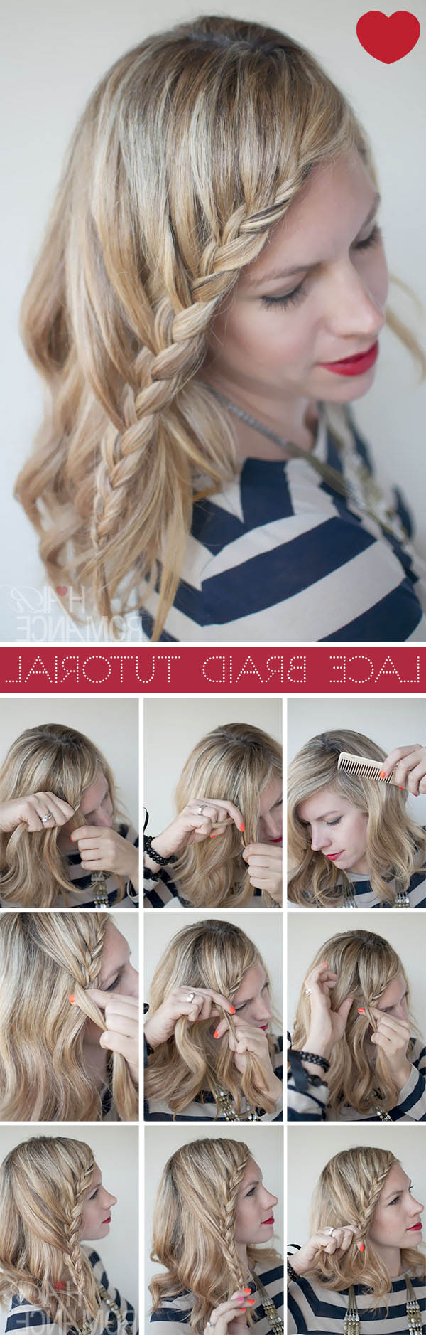 Famous Twisted Lace Braid Hairstyles Inside Lace Braid Hairstyle Tutorial – Hair Romance (View 9 of 20)