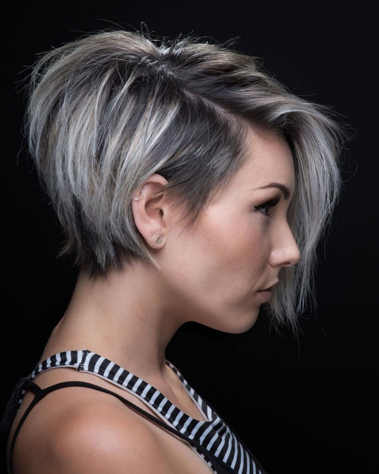 Fashion : Most Amazing Choppy Side Parted Pixie Bob Hairstyles Throughout Best And Newest Choppy Side Parted Bob Hairstyles (Gallery 12 of 20)