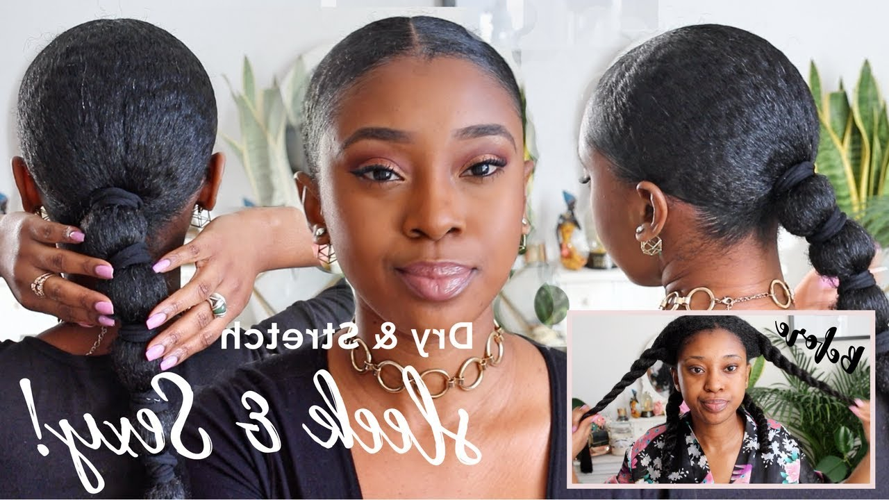 Fashionable Banded Ponytail Hairstyles Inside Simple Wash Day Style For Natural Hair (View 12 of 20)